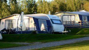 Camping met caravan